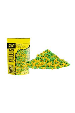 CarpZoom  2in1 Turbo gyors oldódású pellet 3 mm, ananász, banán, 500 g CZ4853