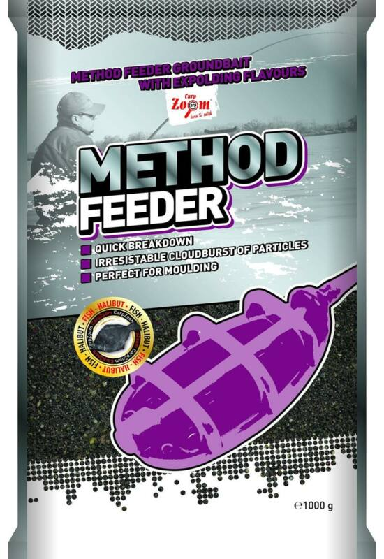 CarpZoom 1kg hal-halibut Method Feeder etetőanyag CZ9912
