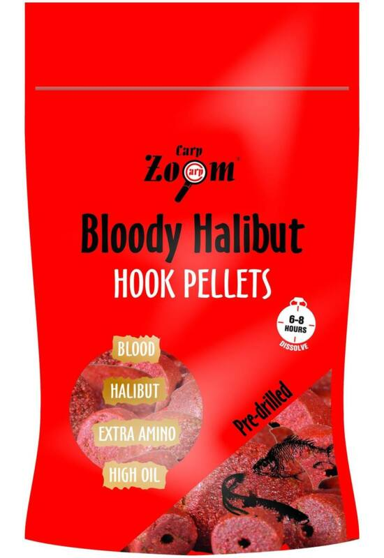 CarpZoom 150g 8mm Bloody Halibut epres fúrt Horogpellet CZ7835